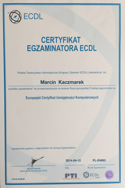 ECDL_Egzaminator_Web